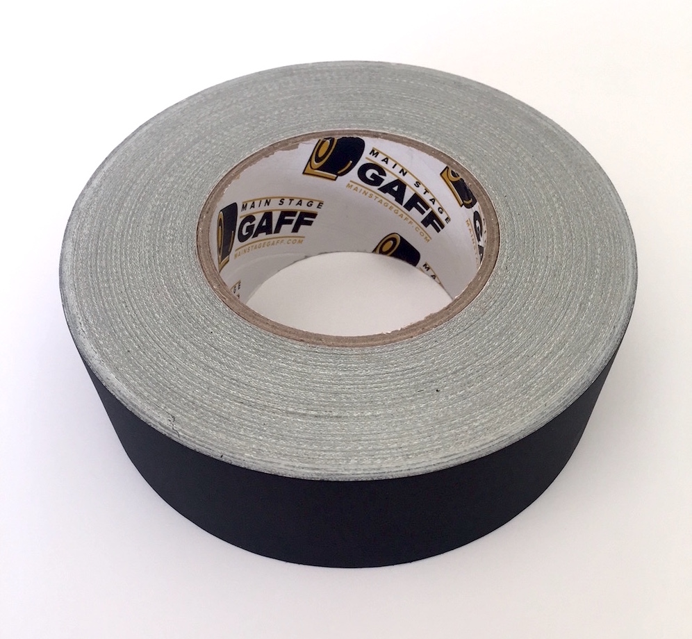 2 inch by 30 Yard Roll Gaffers Tape Easy t... Black Main Stage Gaff Tape
